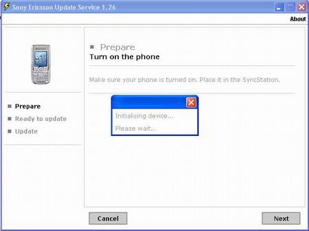 索爱K700软件升级用户可直接在网站操作