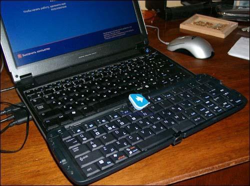 在智能手机上双手打字--惠普新款蓝牙键盘(2)