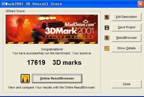 笔记本关键字:3DMARK01