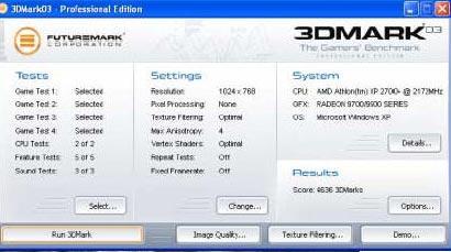 笔记本关键字:3DMARK03