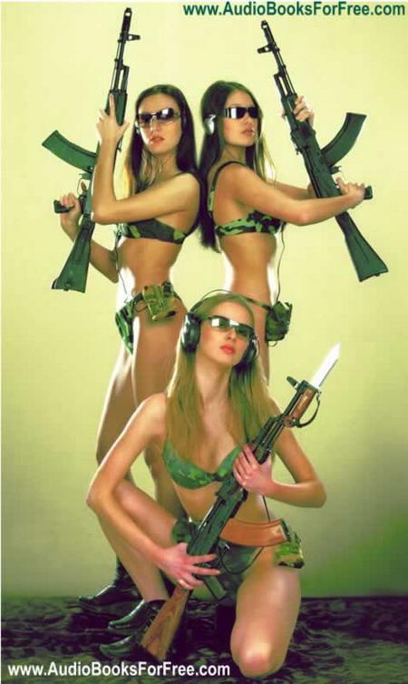 """性感与威猛的结合美女代言""""AK47""""MP3"""
