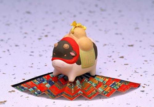 十二生肖的可爱陶瓷娃娃--牛(图)