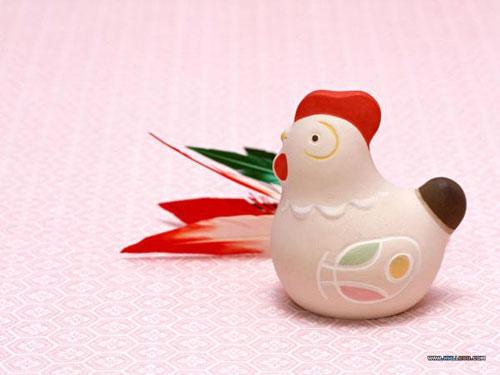 十二生肖的可爱陶瓷娃娃--鸡(图)