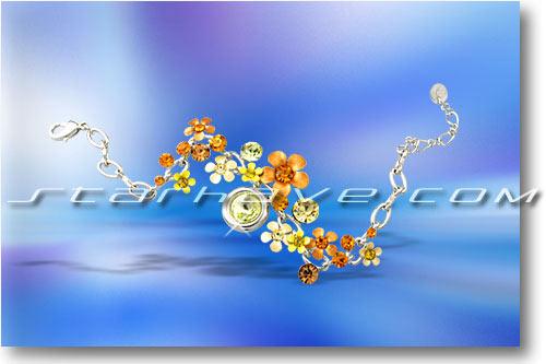天秤座灿烂花语手链(图)