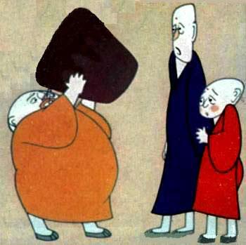 外国现代手法 三个和尚