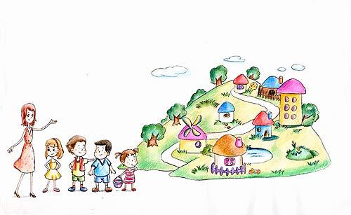 家庭幼儿园图片素材