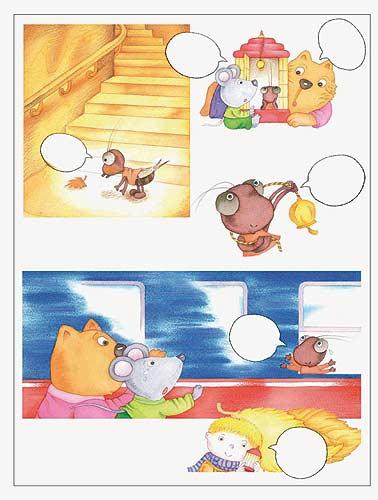 28)它把自己的决定,告诉小老鼠和花猫.