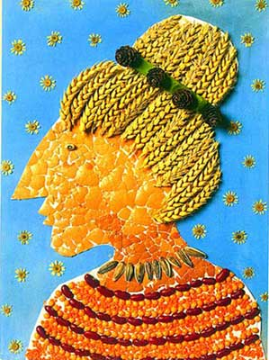 自然风景画--蛋壳肖像(图)图片