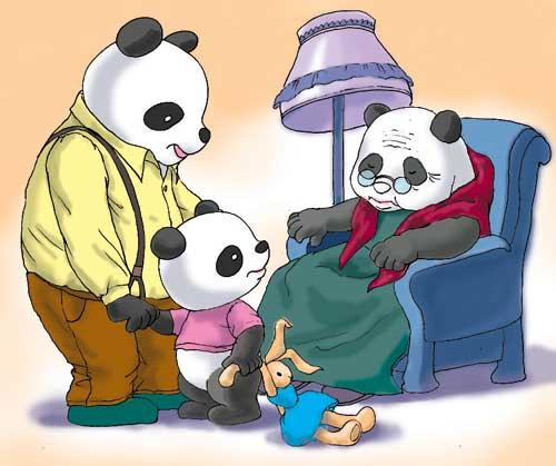 有礼貌的熊猫宝宝 组图图片