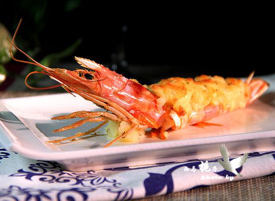 宴客大菜土豆泥芝士焗阿根廷红虾