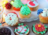 应景甜品圣诞杯子蛋糕