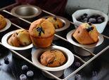 松软好吃的爆浆蓝莓麦芬