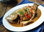 鲜美红烧鲈鱼