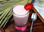 草莓香蕉奶昔