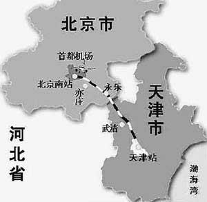 京津城际轨道交通工程开工打造半小时交通圈