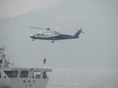 南航珠直分公司应邀参加香港空难搜救演练(图)