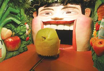 坐着水果车去消化道旅游_上海