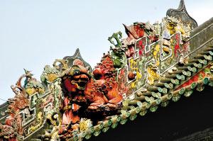 已有500多年历史 广州灰塑角逐非物质文化遗产