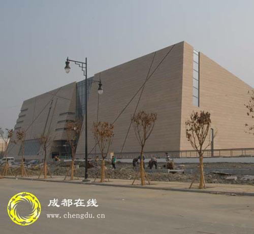 图片传真:修建中的金沙遗址
