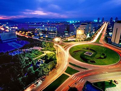 上地信息产业基地夜景