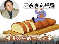 王东京:推进公平的三大对策