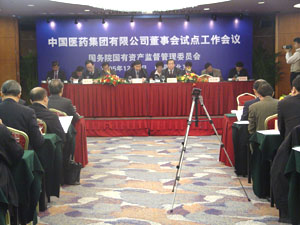 国资委召开中国医药集团董事会试点工作会议(4)