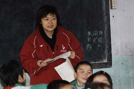 图文:孩子们非常喜欢张文菁老师