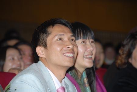 图文:人间远景公司董事长刘景斓在会场