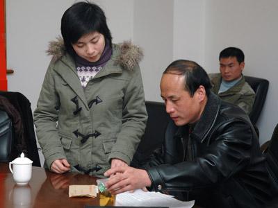 图文:财富手拉手杭州站帮扶对象选拔现场3
