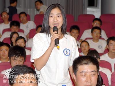 图文:参会的北京二十一世纪学校的学生