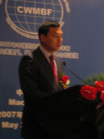 图文:澳门贸易投资促进局主席李炳康