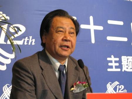 现场图片:中国企业联合会副会长艾丰发言