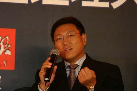 图文:神州数码中国有限公司总裁郭为在发言