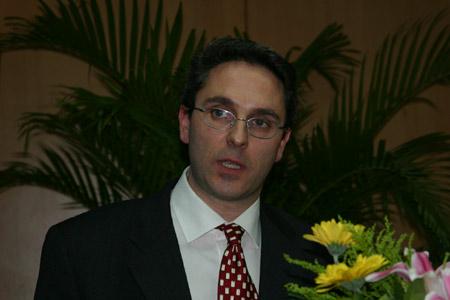 图文:欧盟代表团经济与商务处主任Balibrea