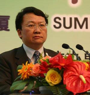 图文:国家环保总局科技司副司长罗毅在发言