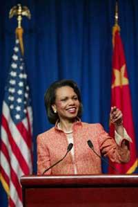 美国务卿赖斯结束在北京访问(图)
