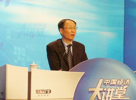 图文:王一鸣先生在节目现场