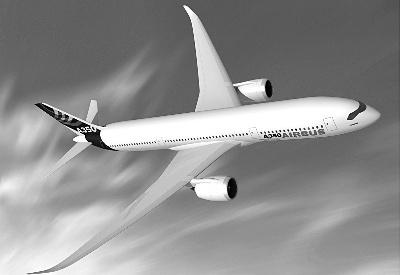 空客称,第一架a350飞机将在2013年交付.