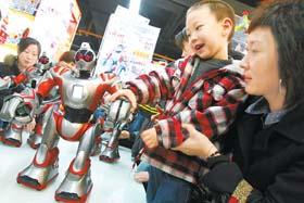 美国智能机器人进京抢年货市场