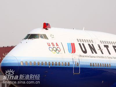 图:美联航北京-华盛顿首航班机UA897次