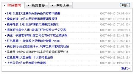新浪新版股票行情系统重装上线_要闻公告