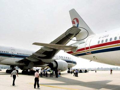 东航南航两飞机首都机场相撞