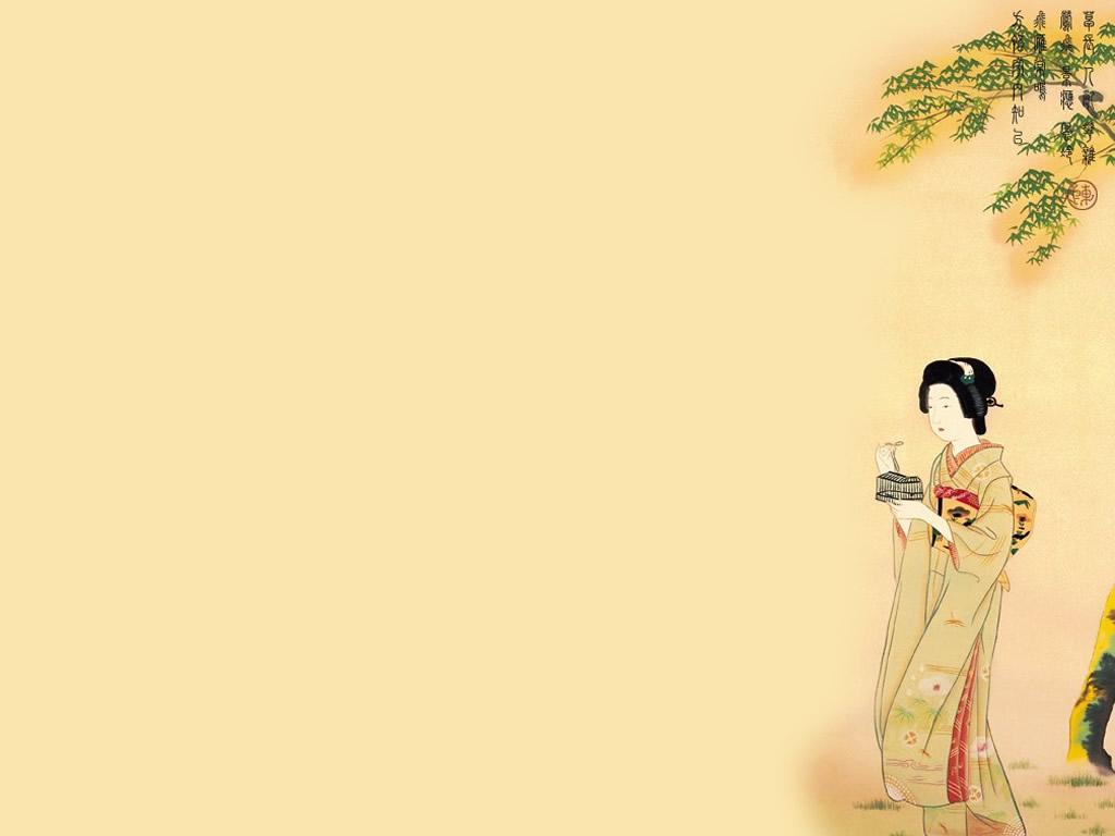 别样风情-日本古代仕女壁纸(2)