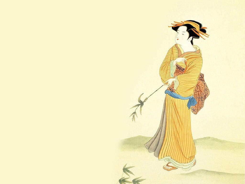 别样风情-日本古代仕女壁纸(11)