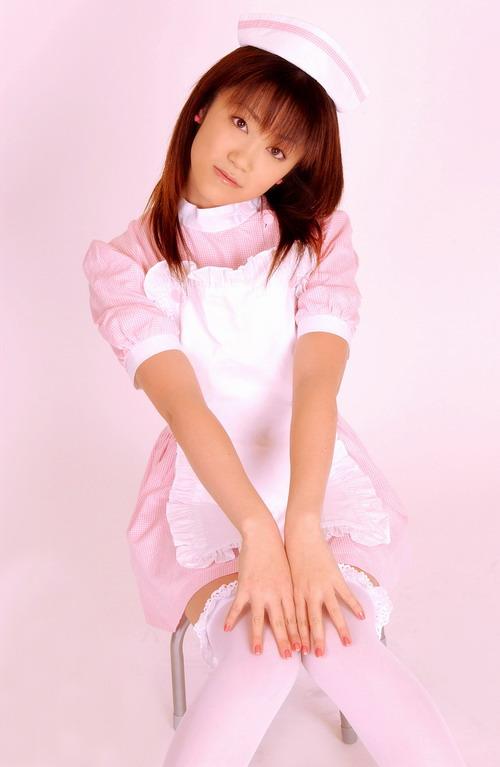 可爱护士女郎粉红色裙装cos展示秀(9)