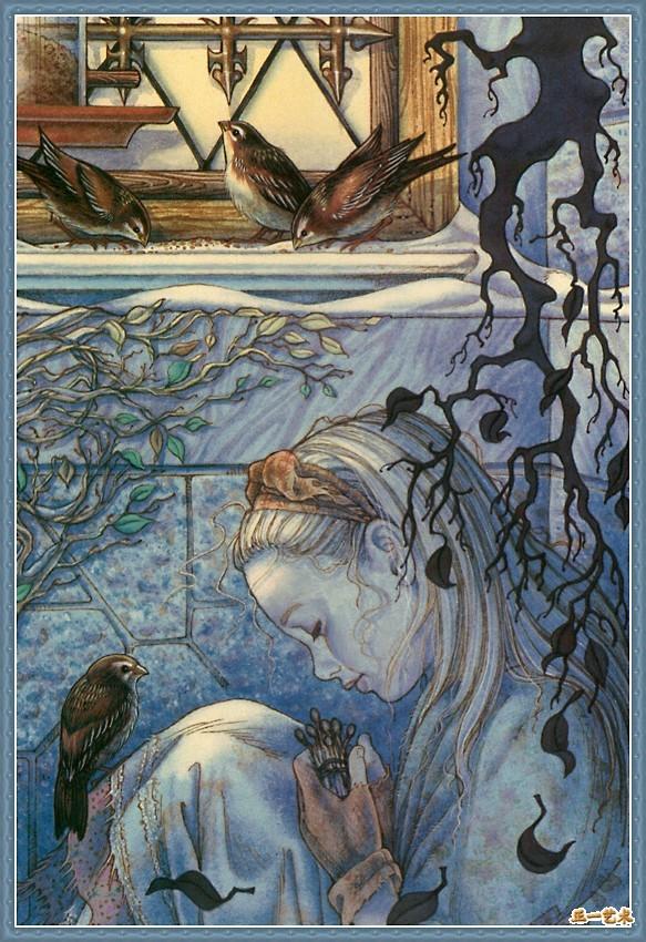 图文:安徒生童话《卖火柴的小女孩》