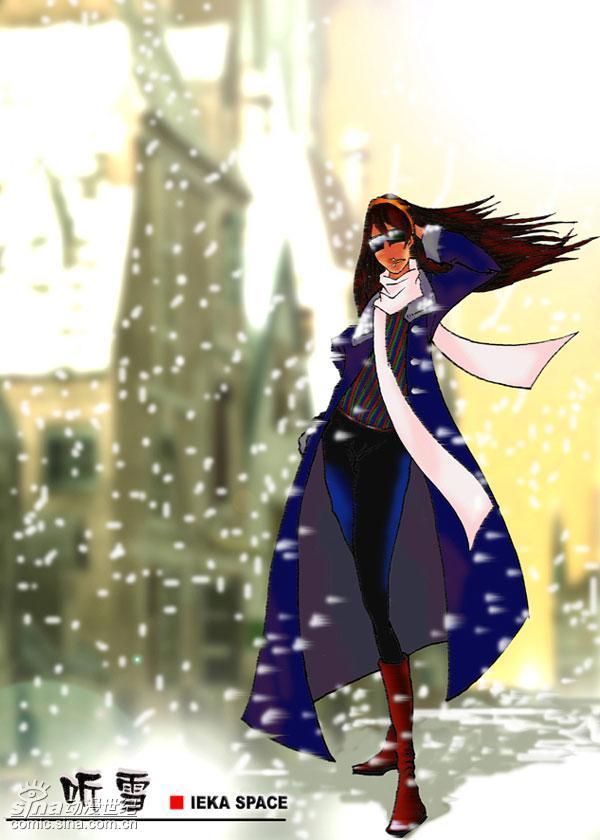 图:雪天里的美女