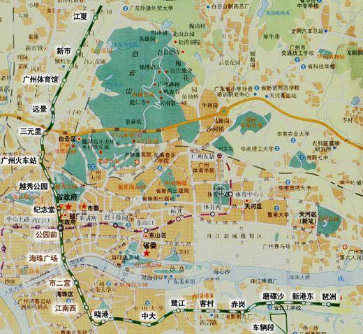 广州地铁二号线简介 附线路图图片