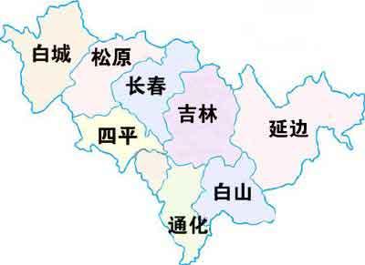 吉林省地图全图大图; 吉林省地图