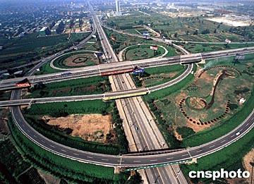 京珠高速公路石家庄互通立交桥